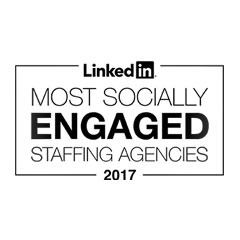 LinkedIn Most Socially Engaged logo